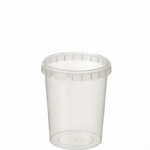 520ml Tamper Evident Clear Cont & Lid set [52093]